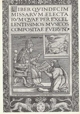 Andrea Antico offre il suo volume a Leone X