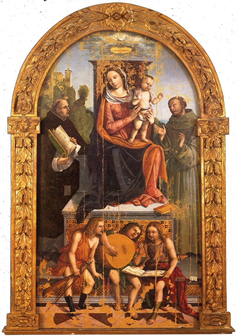 Madonna col Bambino, Santi e angeli